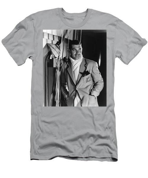 Men's T-Shirt (Athletic Fit) featuring the photograph Clark Gable Hollywood Movie Idol  by R Muirhead Art