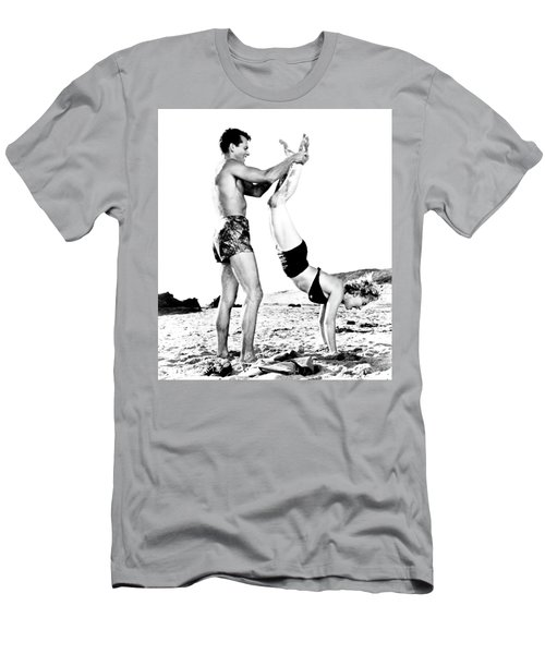 Men's T-Shirt (Athletic Fit) featuring the photograph Clash By Night With Marilyn Monroe by R Muirhead Art