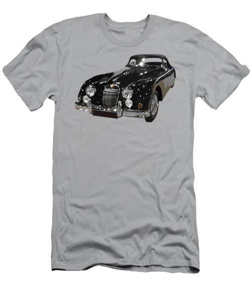 Classic Jaguar In Black Art Men's T-Shirt (Athletic Fit)