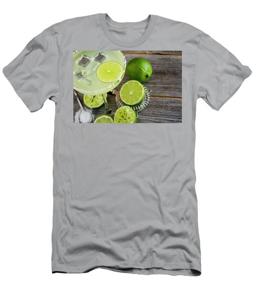 Men's T-Shirt (Slim Fit) featuring the photograph Classic Lime Margarita by Teri Virbickis