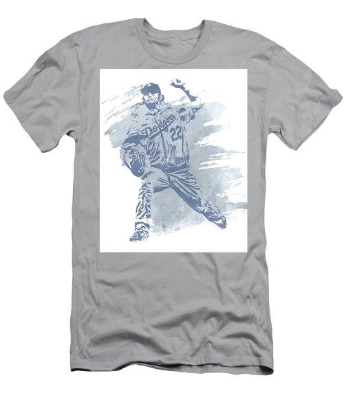 Clayton Kershaw Los Angeles Dodgers Water Color Art 1 Men's T-Shirt (Athletic Fit)