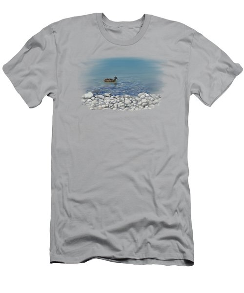 Men's T-Shirt (Athletic Fit) featuring the painting Clear Water  by Ivana Westin