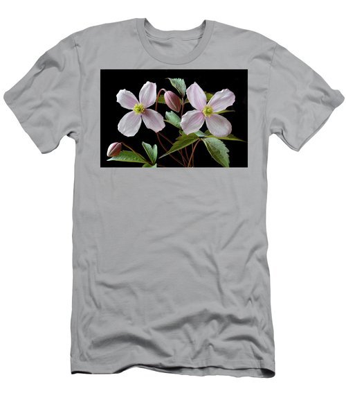 Men's T-Shirt (Slim Fit) featuring the photograph Clematis Montana Rubens by Terence Davis