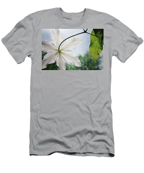 Men's T-Shirt (Athletic Fit) featuring the photograph Clematis Vine And Leaves by Michelle Calkins