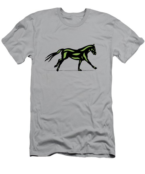Clementine - Pop Art Horse - Black, Geenery, Hazelnut Men's T-Shirt (Athletic Fit)