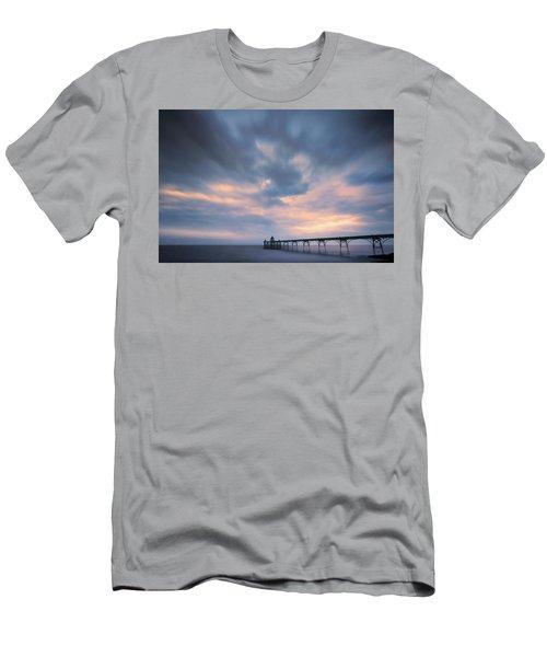 Clevedon Pier Men's T-Shirt (Slim Fit) by Dominique Dubied
