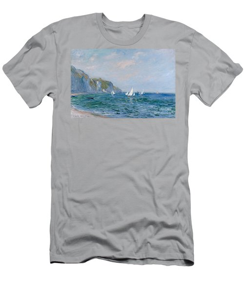 Cliffs And Sailboats At Pourville  Men's T-Shirt (Athletic Fit)