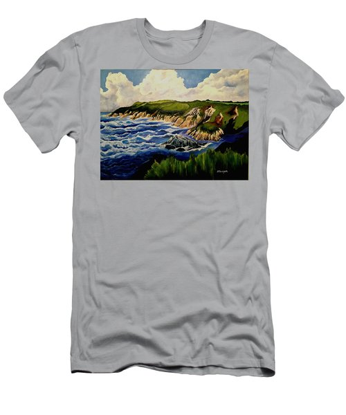 Cliffs And Sea Men's T-Shirt (Athletic Fit)