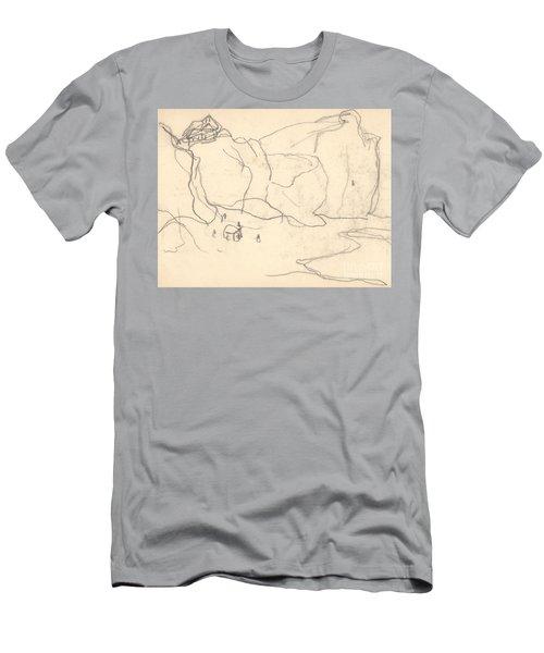 Cliffs Near Pourville-varengeville Men's T-Shirt (Athletic Fit)