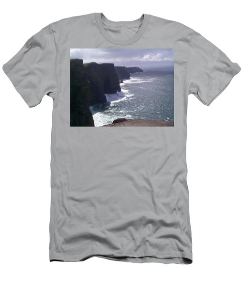 Cliffs Of Moher Men's T-Shirt (Slim Fit) by Charles Kraus