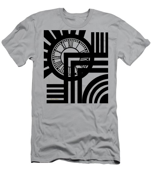 Men's T-Shirt (Slim Fit) featuring the digital art Clock Design Vertical by Chuck Staley