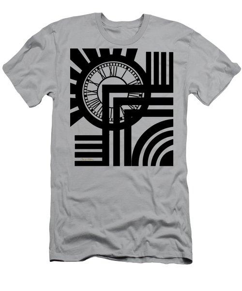 Clock Design Vertical Men's T-Shirt (Slim Fit) by Chuck Staley