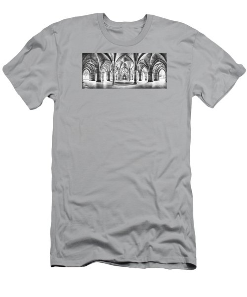 Cloister Black And White Panorama Men's T-Shirt (Athletic Fit)