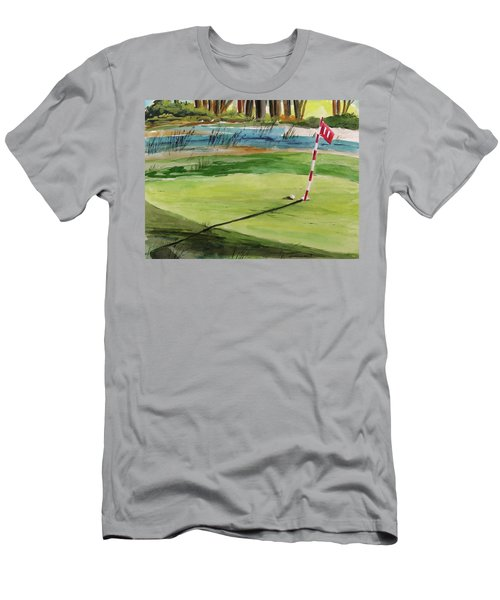 Close At The Eleventh Hole Men's T-Shirt (Athletic Fit)