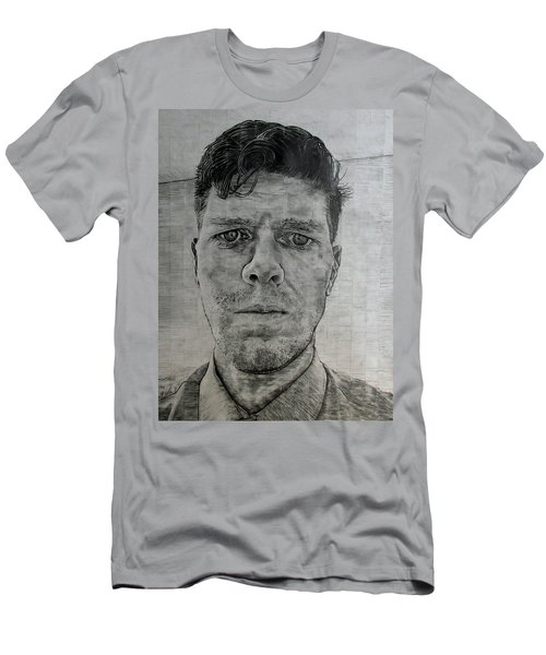 Men's T-Shirt (Slim Fit) featuring the drawing Close Self Portrait by Denny Morreale