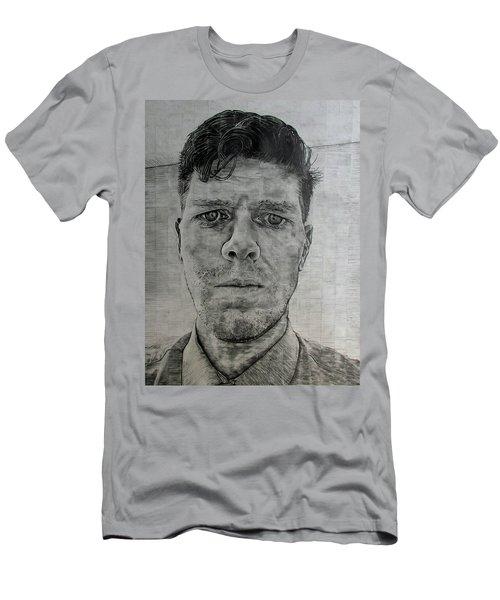 Close Self Portrait Men's T-Shirt (Slim Fit) by Denny Morreale