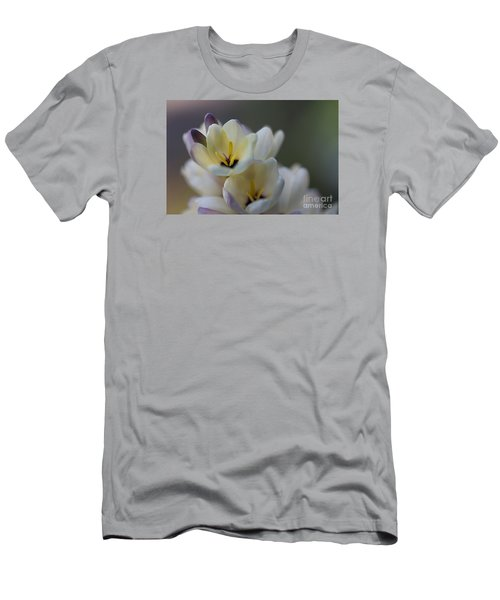 Close-up Of White Freesia Men's T-Shirt (Athletic Fit)