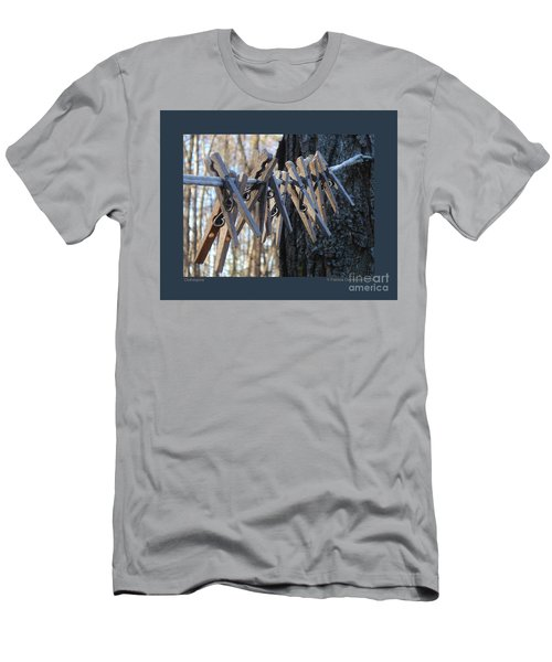 Clothespins Men's T-Shirt (Slim Fit) by Patricia Overmoyer