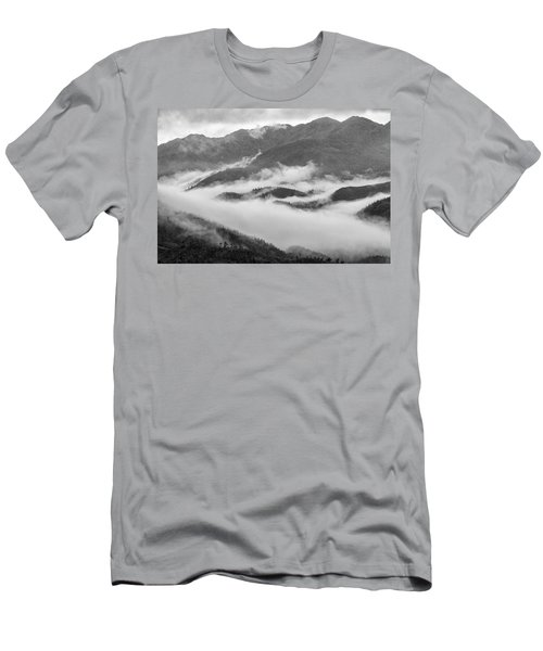 Men's T-Shirt (Slim Fit) featuring the photograph Clouds In Valley, Sa Pa, 2014 by Hitendra SINKAR