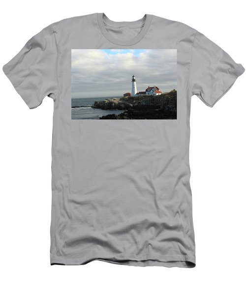 Clouds Over Portland Head Lighthouse 2 Men's T-Shirt (Athletic Fit)