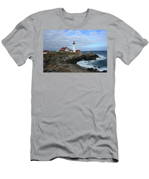 Clouds Over Portland Head Lighthouse Men's T-Shirt (Athletic Fit)
