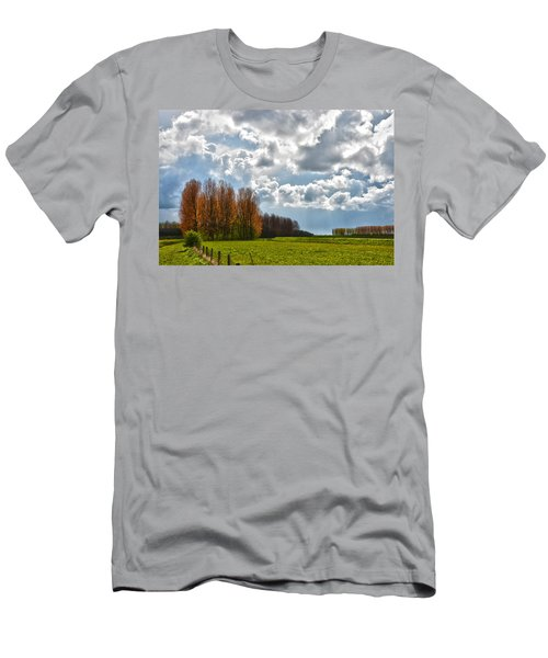 Clouds Over Voorne Men's T-Shirt (Slim Fit) by Frans Blok