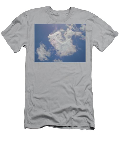 Clouds Rainbow Reflections Men's T-Shirt (Slim Fit) by Cindy Croal