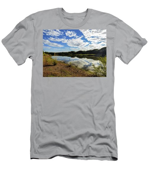 Clouds Reflecting On The Uruguay River Men's T-Shirt (Athletic Fit)