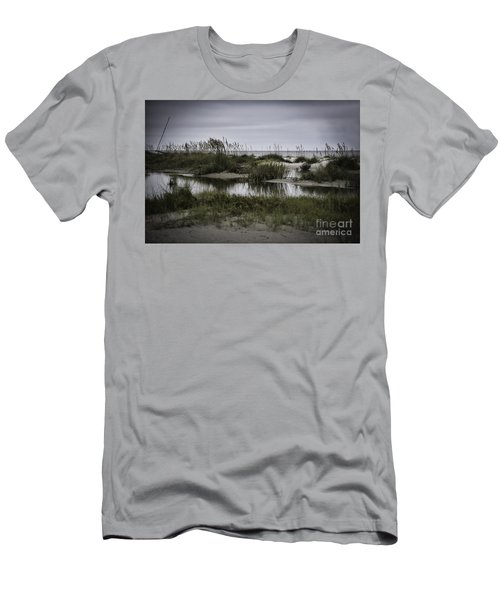 Men's T-Shirt (Slim Fit) featuring the photograph Cloudy Beach Day by Judy Wolinsky