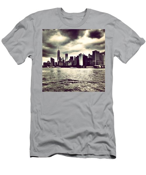Cloudy Day In #nyc Men's T-Shirt (Athletic Fit)
