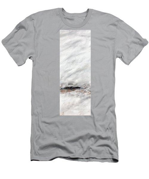 Coast #14 Ocean Landscape Original Fine Art Acrylic On Canvas Men's T-Shirt (Athletic Fit)