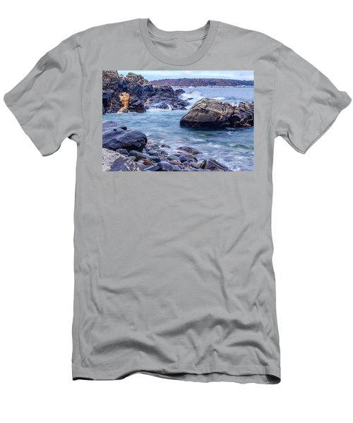 Coast Of Maine In Autumn Men's T-Shirt (Athletic Fit)
