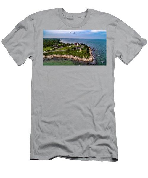 Coastal Nobska Point Lighthouse Men's T-Shirt (Athletic Fit)