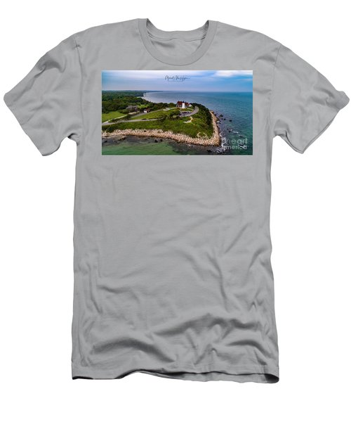 Coastal Nobska Point Lighthouse Men's T-Shirt (Athletic Fit)