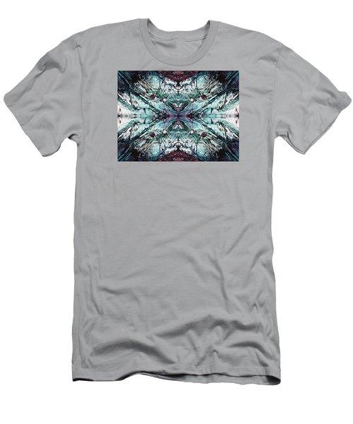 Coastal Rocks Brillig Turquoise Kaleidoscope Effect Men's T-Shirt (Athletic Fit)