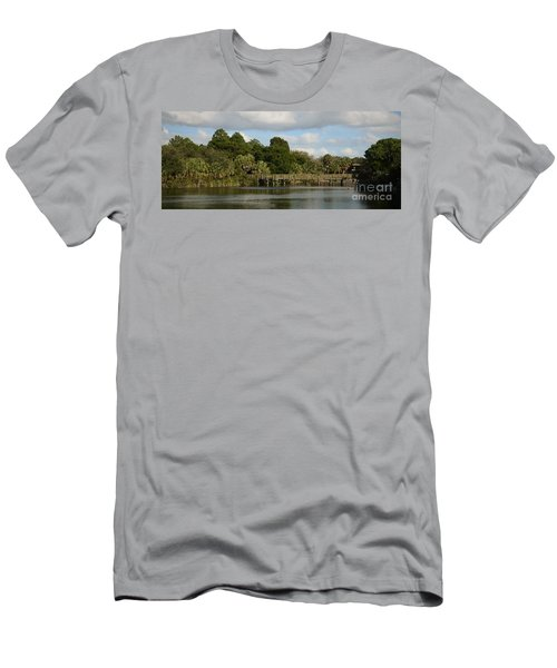 Men's T-Shirt (Slim Fit) featuring the photograph Coastal Serenity by Pamela Blizzard