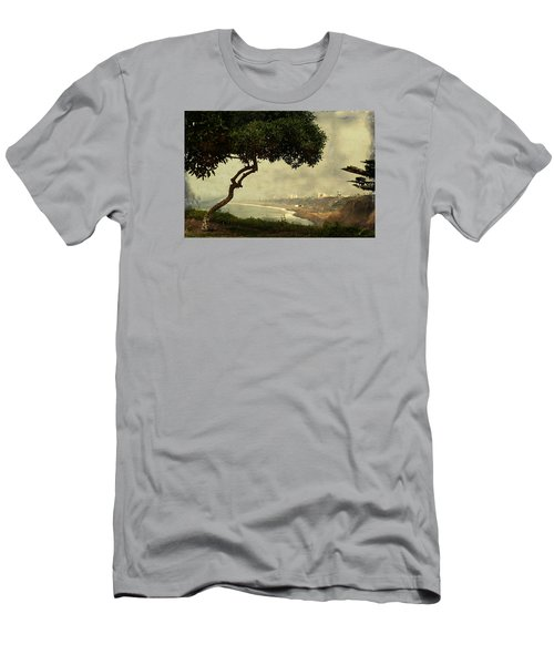 Coastline Of Lima, Peru Men's T-Shirt (Athletic Fit)