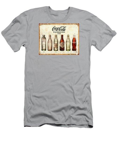 Coca-cola Bottle Evolution Vintage Sign Men's T-Shirt (Slim Fit) by Tony Rubino