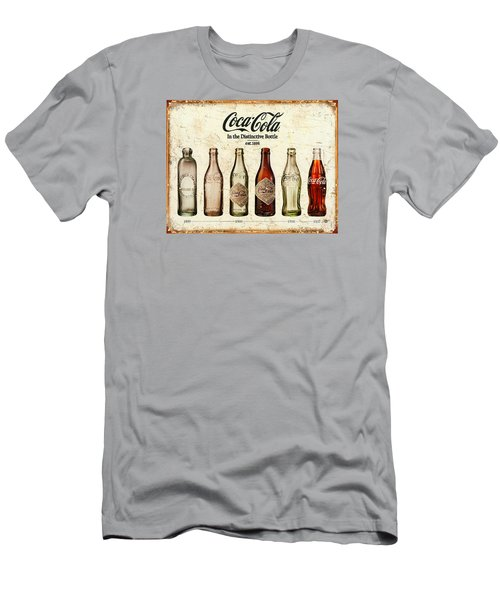 Coca-cola Bottle Evolution Vintage Sign Men's T-Shirt (Athletic Fit)