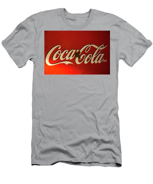 Men's T-Shirt (Slim Fit) featuring the photograph Coca-cola Sign  by Toni Hopper