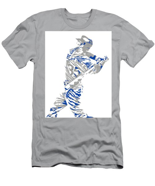 Cody Bellinger Los Angeles Dodgers Pixel Art 2 Men's T-Shirt (Athletic Fit)