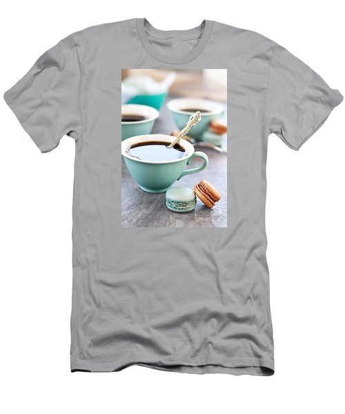 Coffee And Macarons Men's T-Shirt (Slim Fit) by Stephanie Frey