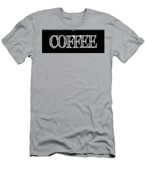 Coffee Fill Line Mug Men's T-Shirt (Slim Fit) by Robert J Sadler