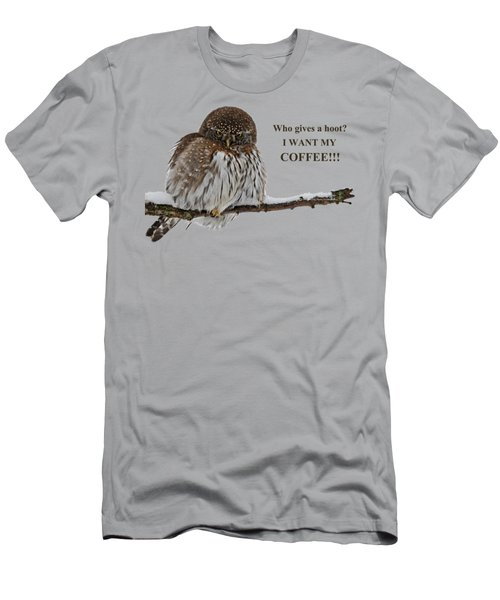Coffee Owl Men's T-Shirt (Athletic Fit)