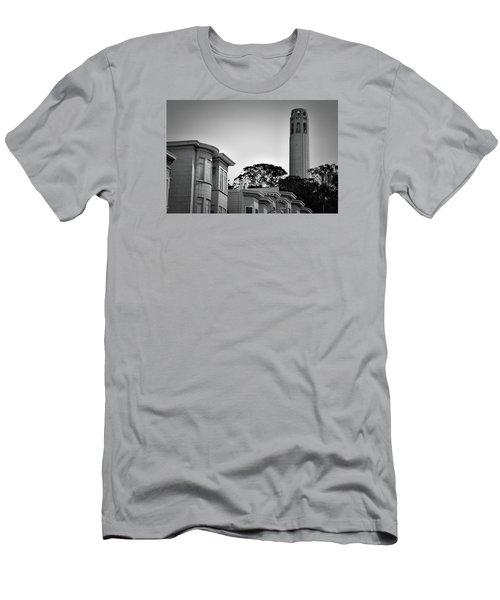 Coit Tower Men's T-Shirt (Athletic Fit)