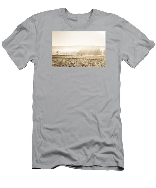 Cold Mysterious Winter Prairie Men's T-Shirt (Athletic Fit)
