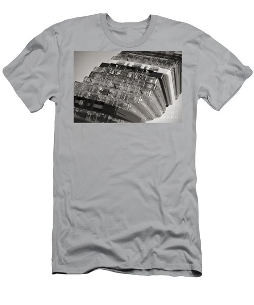 Collection Of Audio Cassettes With Domino Effect Men's T-Shirt (Slim Fit)