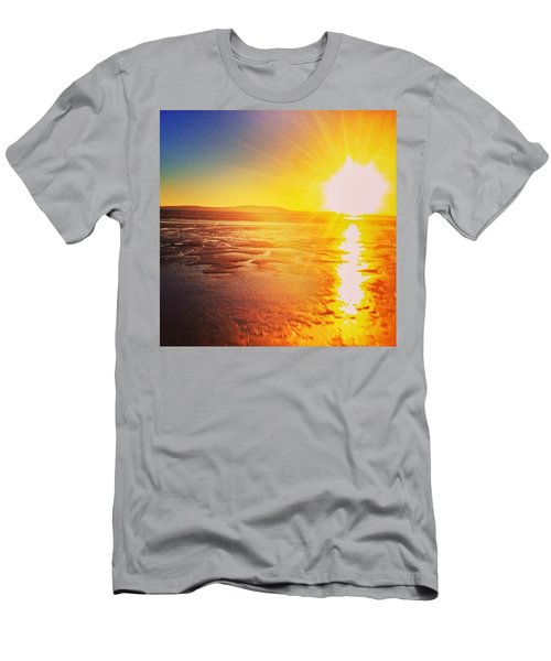 College Sunset Men's T-Shirt (Athletic Fit)