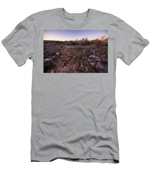 Colorado Bend State Park Gorman Falls Trail #1 Men's T-Shirt (Slim Fit) by Micah Goff