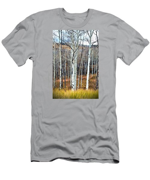 Colorado Fall Aspen Men's T-Shirt (Slim Fit) by James Steele